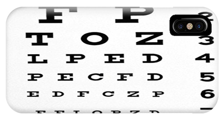 The Eye Chart Iphone X Case For Sale By Florene Welebny