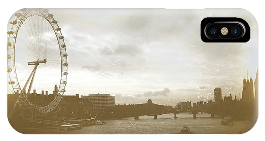 London IPhone X Case featuring the photograph The Eye Of London Art by JAMART Photography