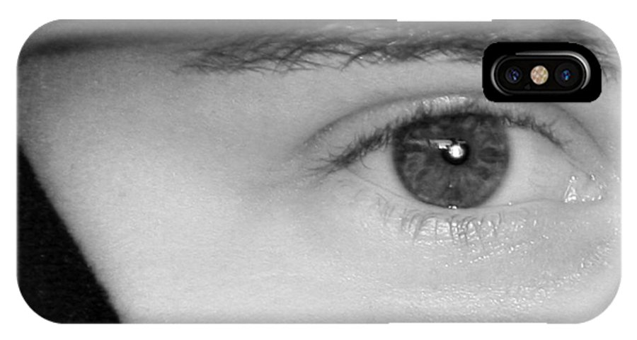 Eyes IPhone X / XS Case featuring the photograph The Eyes Have It by Christine Till
