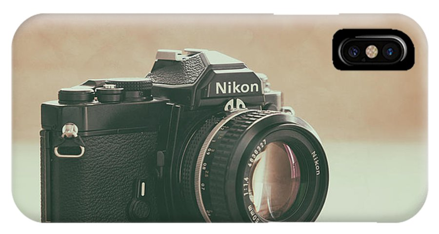 Vintage IPhone X Case featuring the photograph The Fabulous Nikon by Ana V Ramirez
