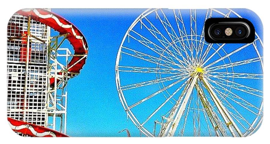 Blue IPhone X Case featuring the photograph The Fair On Blacheath by Samuel Gunnell