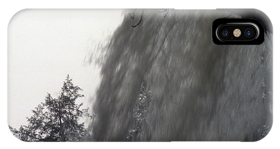 Waterfalls IPhone X Case featuring the photograph The Falls by Richard Rizzo