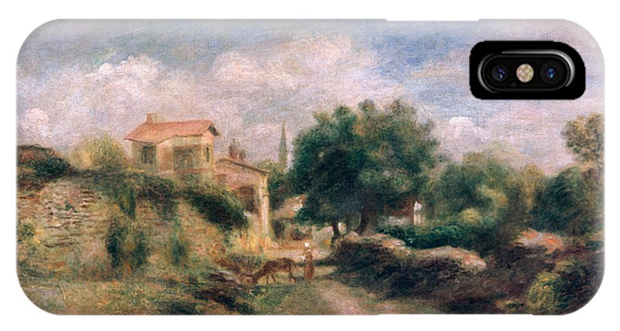 The IPhone X Case featuring the painting The Farm by Renoir