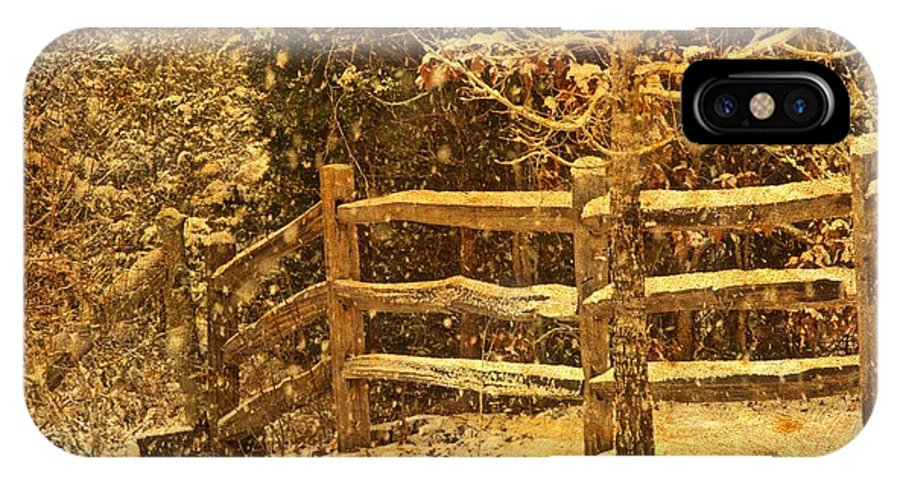 Landscape IPhone X / XS Case featuring the photograph The Fence by John Prickett