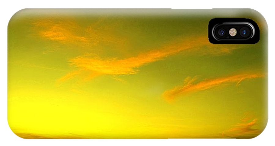 Sunset IPhone X Case featuring the photograph The Final Light Is Gold by Ian MacDonald