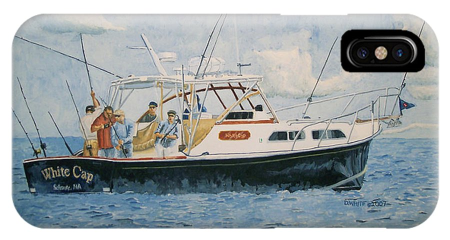 Fishing IPhone Case featuring the painting The Fishing Charter - Cape Cod Bay by Dominic White