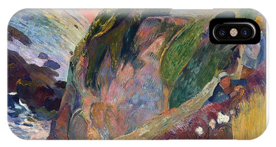 Paul IPhone X Case featuring the painting The Flageolet Player On The Cliff by Gauguin