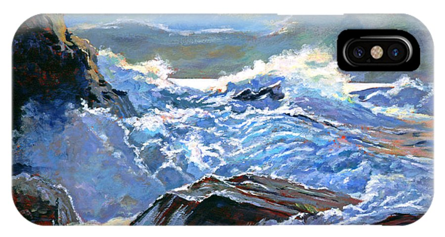 Waves IPhone X Case featuring the painting The Foaming Sea by David Lloyd Glover