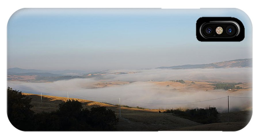 Fog IPhone X / XS Case featuring the photograph The Fog In The Country by Samantha Mattiello