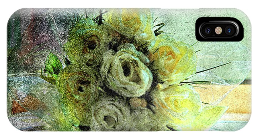 Forgotten Flowers IPhone X Case featuring the photograph The Forgotten Flowers by Susanne Van Hulst