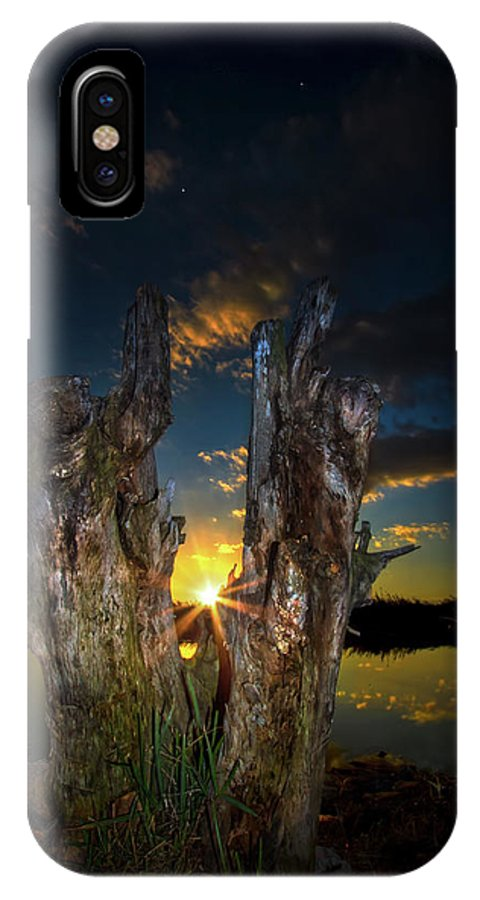 Sunset IPhone X Case featuring the photograph The Fourth Star by Mark Andrew Thomas