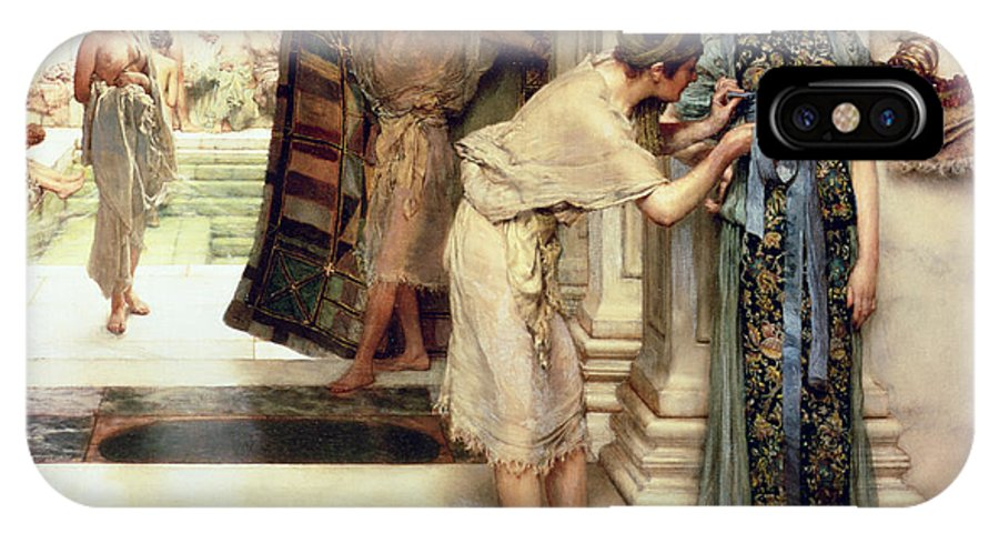 The IPhone X Case featuring the painting The Frigidarium by Sir Lawrence Alma-Tadema