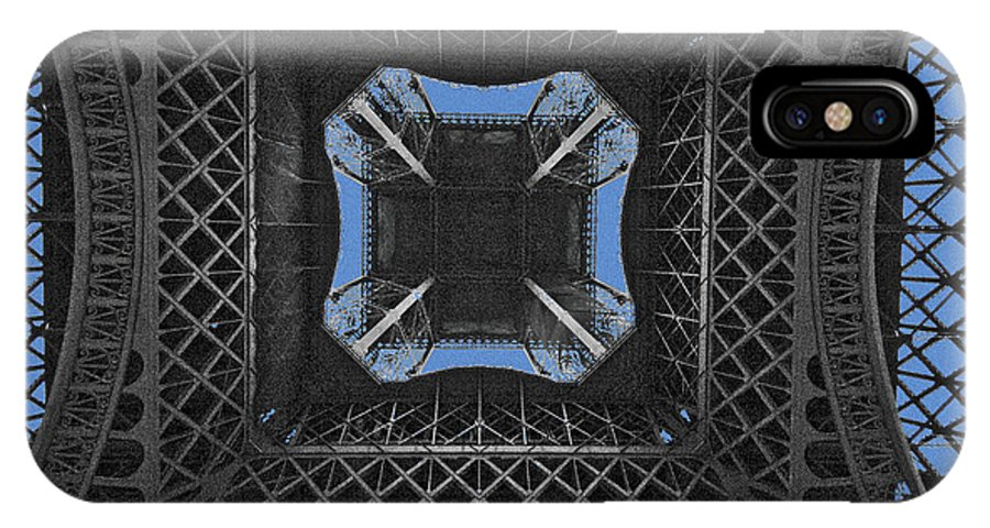 Eiffel IPhone X Case featuring the photograph The Gaping Tower Eiffel by Robert Ponzoni