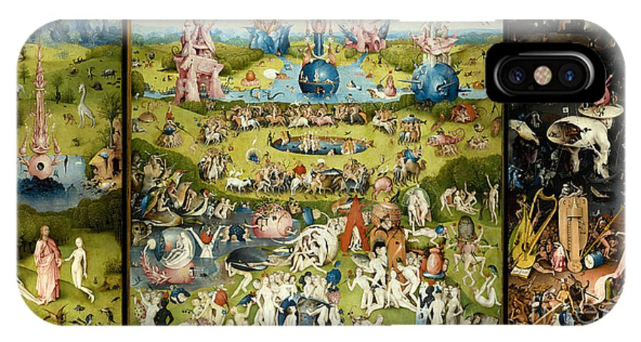 Hieronymous Bosch IPhone X Case featuring the painting The Garden Of Earthly Delights 1490-1510 By Hieronymus Bosch by ArtAnthology