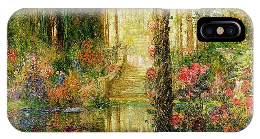 The IPhone X Case featuring the painting The Garden Of Enchantment by Thomas Edwin Mostyn