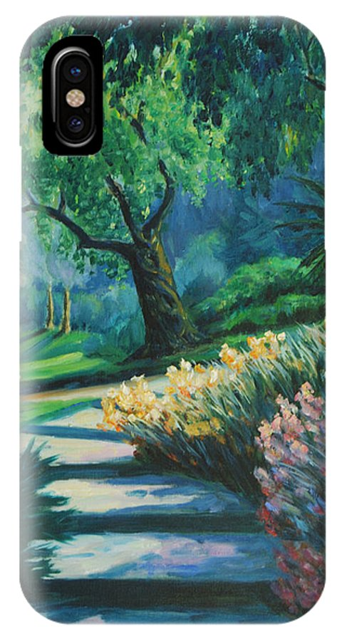 Trees IPhone Case featuring the painting The Garden by Rick Nederlof