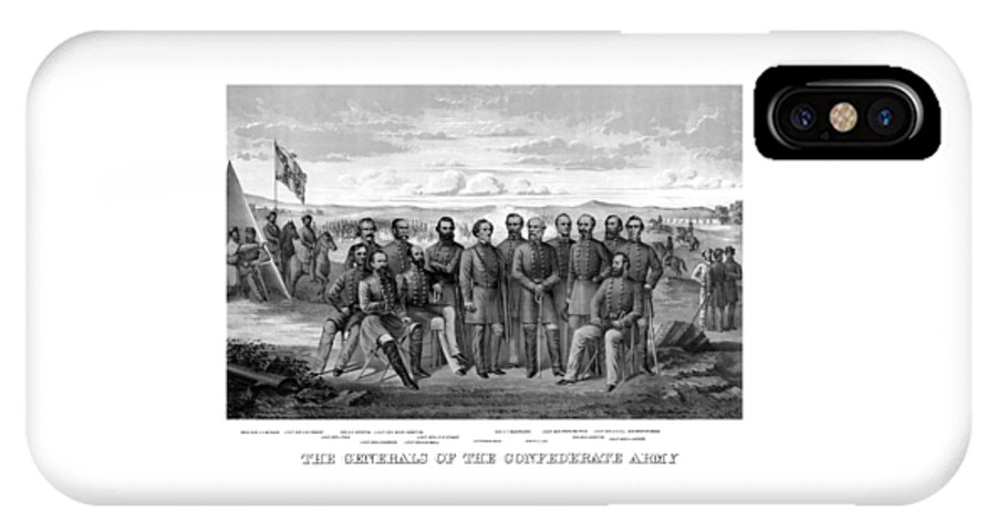 Civil War IPhone X Case featuring the mixed media The Generals Of The Confederate Army by War Is Hell Store