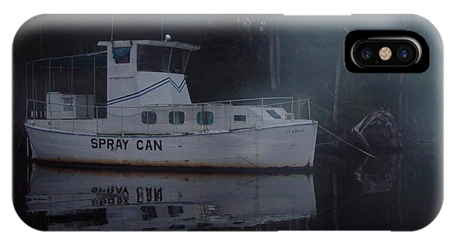 Boat IPhone X / XS Case featuring the painting The Ghost Ship by Debbie May