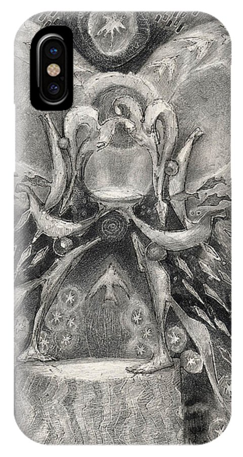 The Gift IPhone X Case featuring the drawing The Gift II by Juel Grant