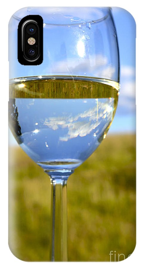 Pinot Grigio IPhone X Case featuring the photograph The Glass Is Half Full by Thomas R Fletcher