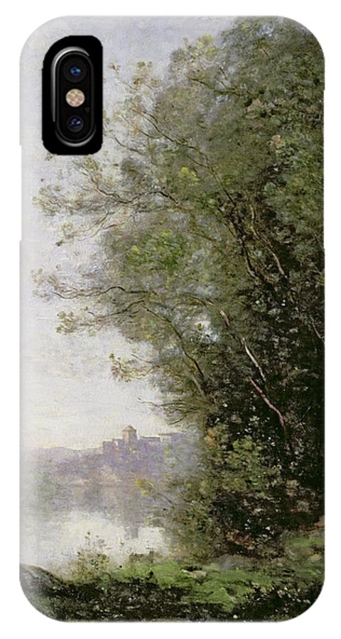 The IPhone X Case featuring the painting The Goatherd Beside The Water by Jean Baptiste Camille Corot