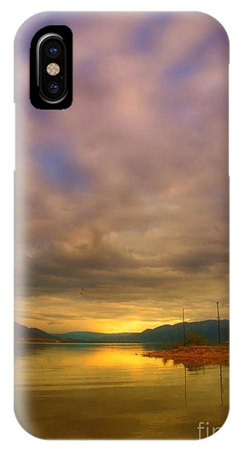 Sunrise IPhone X Case featuring the photograph The Golden Glow Of Morning by Tara Turner