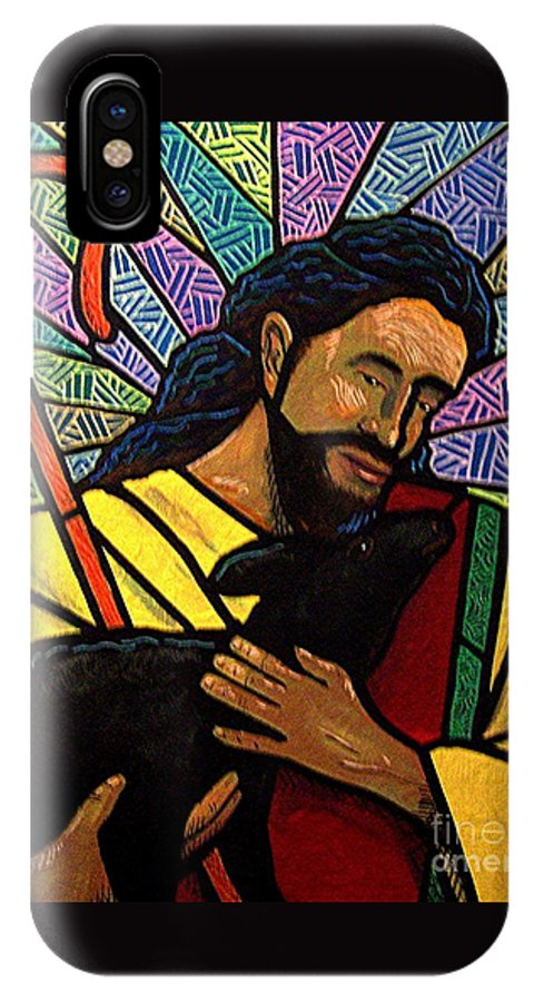 Jesus IPhone X Case featuring the painting The Good Shepherd - Practice Painting One by Jim Harris