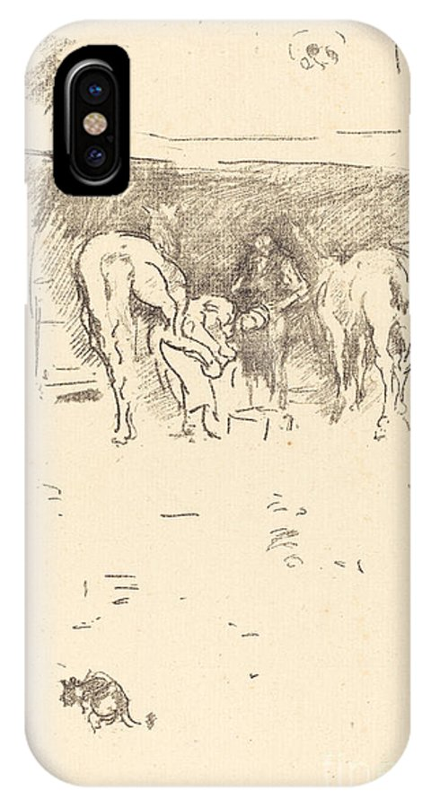 IPhone X Case featuring the drawing The Good Shoe by James Mcneill Whistler