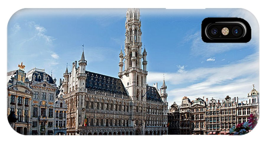 Municipality IPhone X Case featuring the photograph The Grand Place by Jim Chamberlain