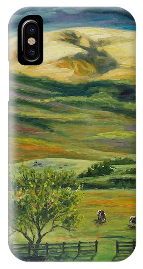 California Hills IPhone Case featuring the painting The Grapevine by Rick Nederlof