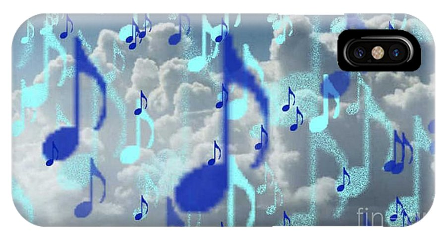 IPhone X Case featuring the digital art The Greater Clouds Of Witnesses We Love The Blues Too by Brenda L Spencer