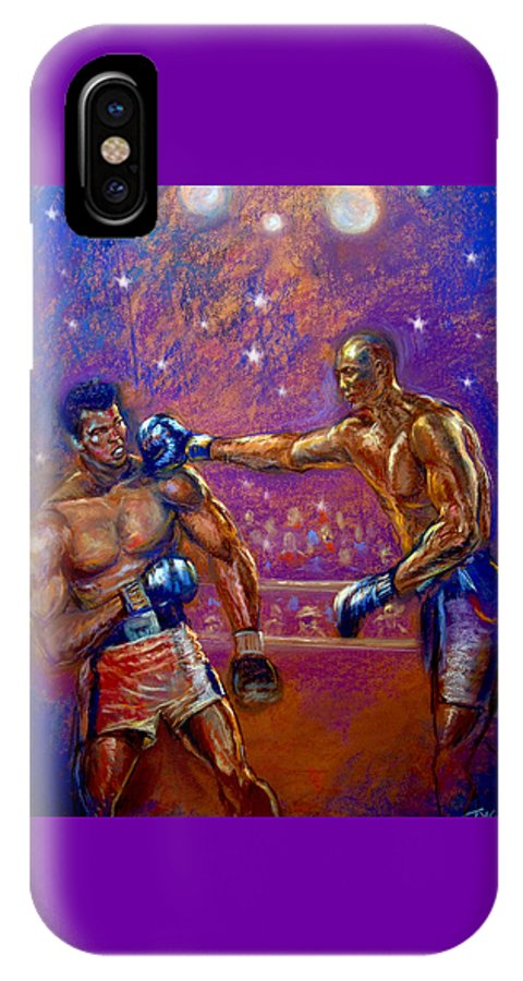 Boxing IPhone Case featuring the pastel the Greatest Muhammed Ali vs Jack Johnson by Tommy Winn
