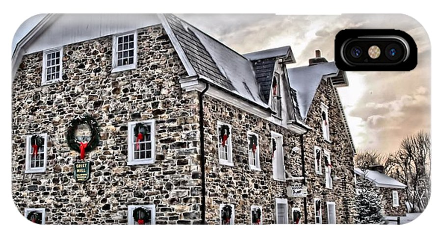 Hellertown IPhone X Case featuring the photograph The Grist Mill And Ye Old Tavern by DJ Florek