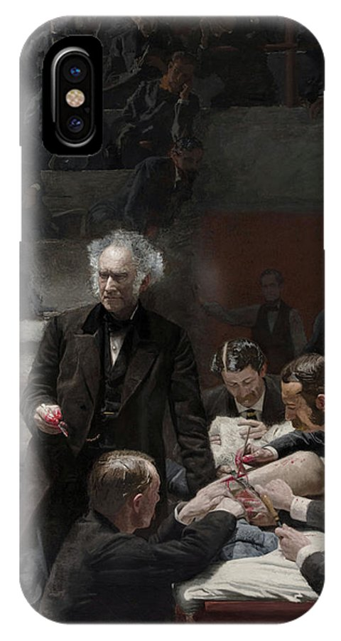 America IPhone X Case featuring the painting The Gross Clinic by Thomas Eakins