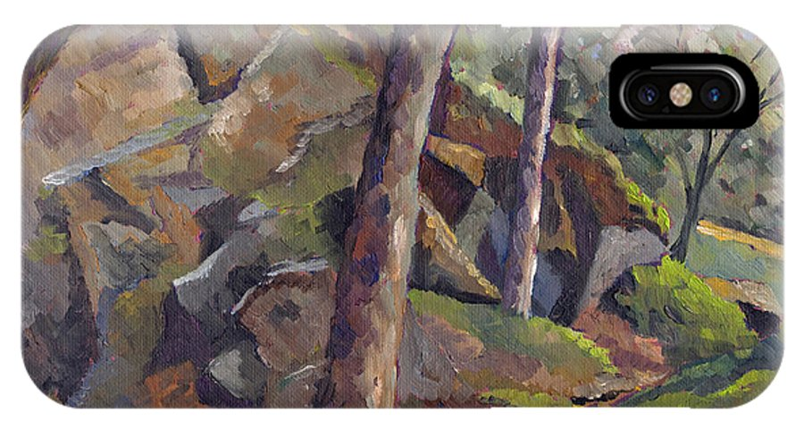 Impressionism IPhone Case featuring the painting The Grotto by Don Perino