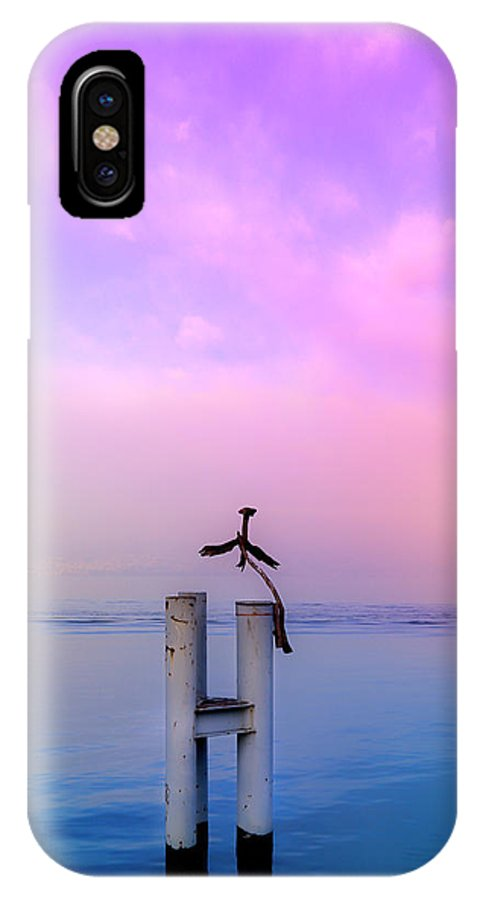 Wood IPhone X Case featuring the photograph The Guardian Of Time by Beli