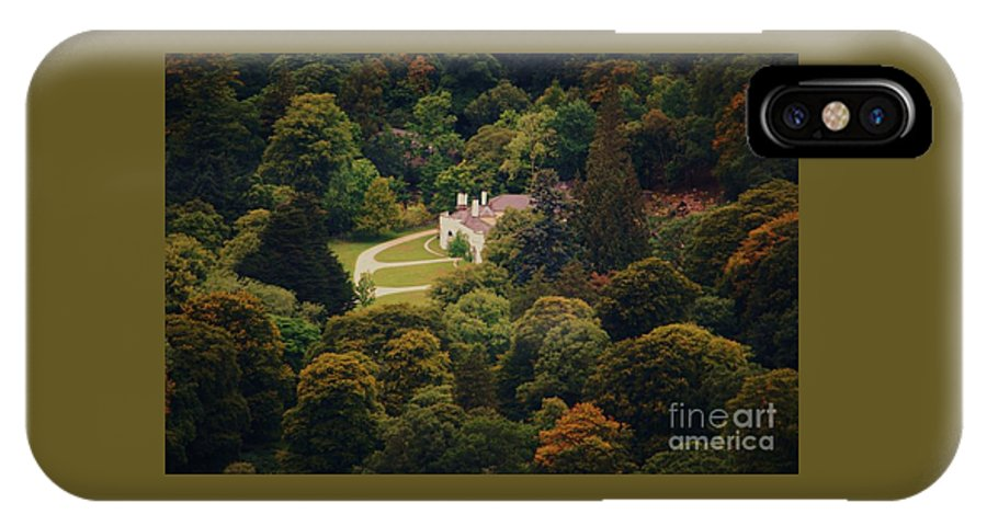 Ireland Guinness House Trees Wicklow Art Rural Photography Country Life Serene Touch Of Autumn Historic Landmark Outdoors Travel Canvas Print Recommended Metal Frame Wood Print Recommended Poster Print Available On Tote Bags T Shirts Shower Curtains Duvet Covers Mugs Greeting Cards And Phones Cases IPhone X Case featuring the photograph The Guinness House Wicklow by Marcus Dagan