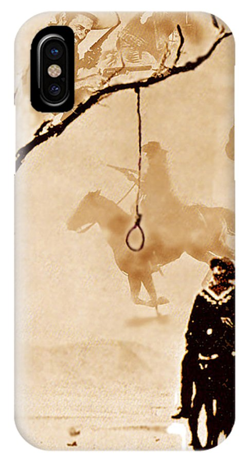 Clint Eastwood IPhone X Case featuring the digital art The Hangman's Tree by Seth Weaver