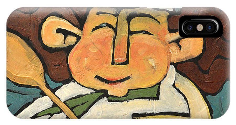 Chef IPhone X Case featuring the painting The Happy Chef by Tim Nyberg