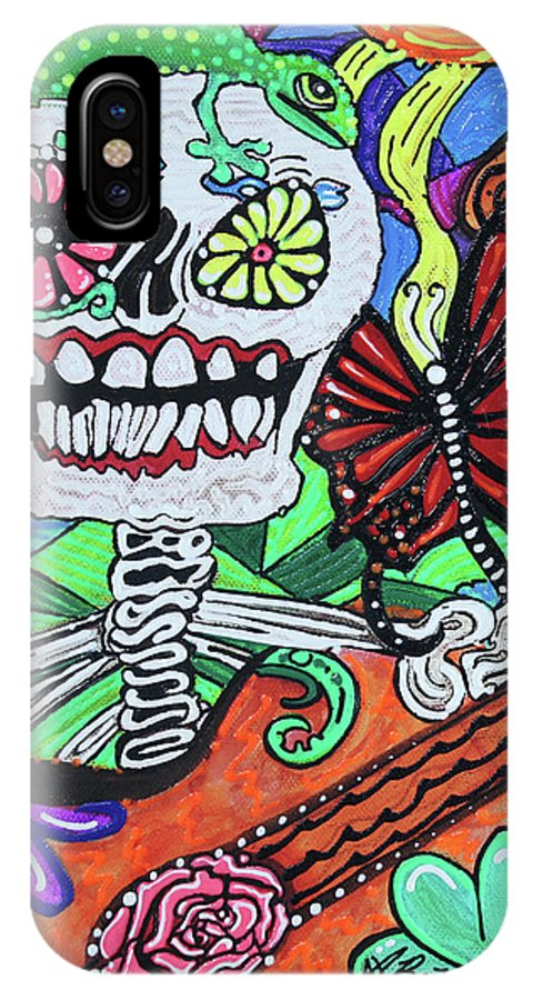 Allsaintsday IPhone X Case featuring the painting The Happy Dead by Laura Barbosa