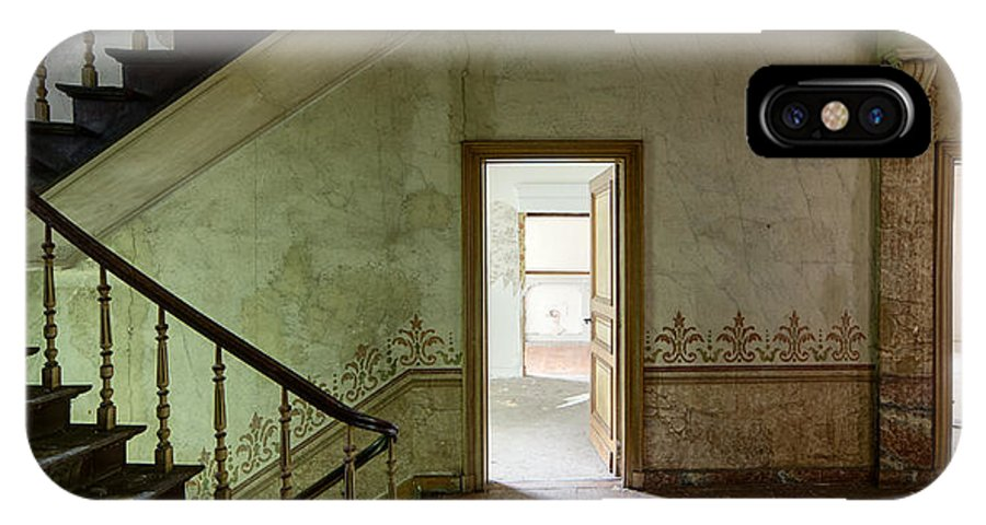Castle IPhone X Case featuring the photograph The Haunted Staircase - Abandoned Building by Dirk Ercken