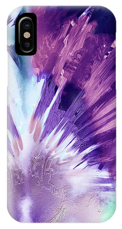 Abstract Art IPhone X Case featuring the digital art The Heart Of Passion by Winston Wesley Art