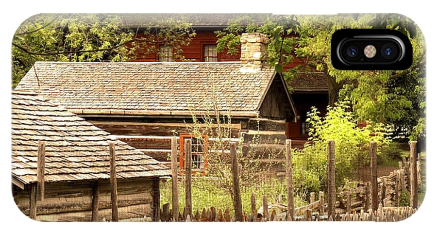 Log Cabins IPhone X Case featuring the photograph The Homestead by Ian MacDonald
