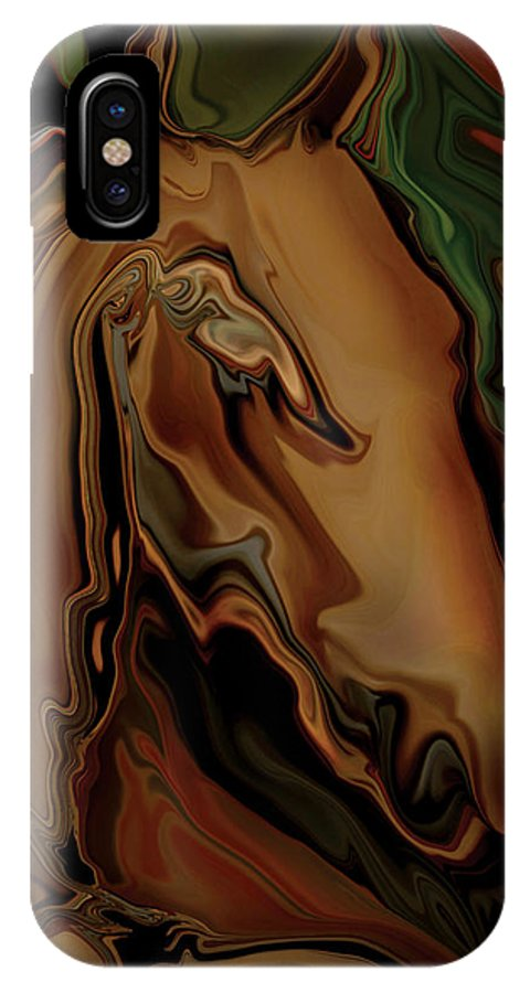Animal IPhone Case featuring the digital art The Horse by Rabi Khan