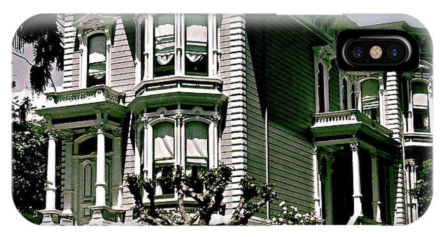 San Francisco IPhone X Case featuring the photograph The House On The Hill by Ira Shander