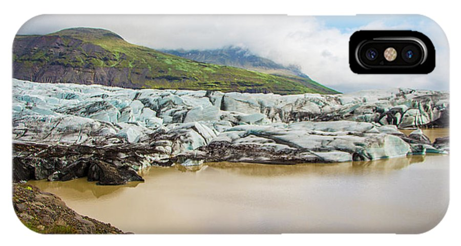 Iceland IPhone X Case featuring the photograph The Ice Wall Iceland by Venetia Featherstone-Witty
