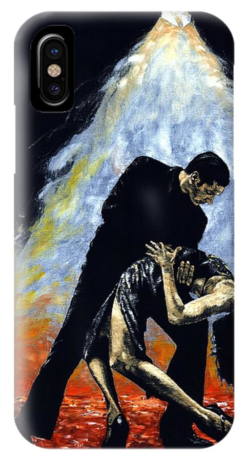 Tango IPhone X Case featuring the painting The Intoxication Of Tango by Richard Young