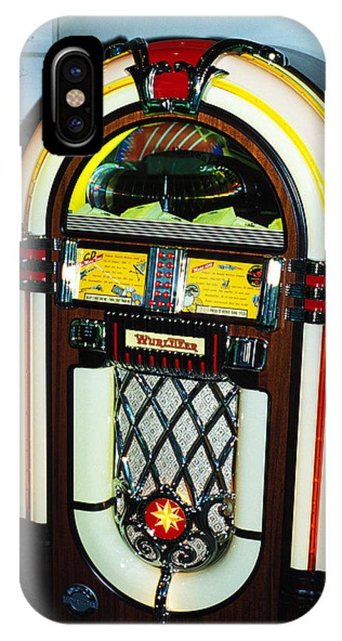 Juke Box IPhone X Case featuring the photograph The Ipod Of My Grandfather by Carl Purcell