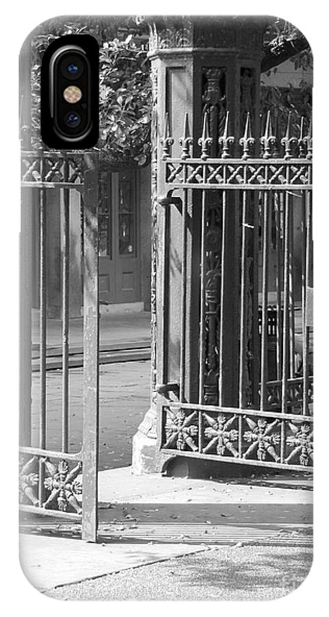 French Quarter IPhone X Case featuring the photograph The Iron Gates by Michelle Powell