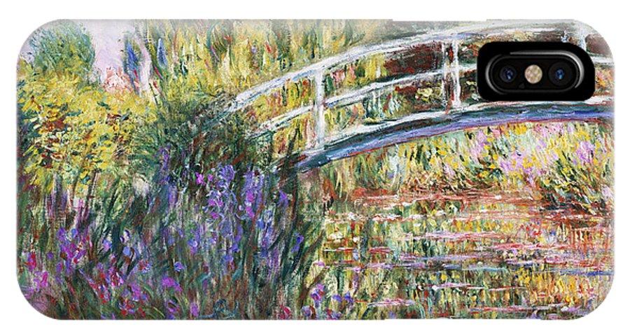 The Japanese Bridge IPhone X Case featuring the painting The Japanese Bridge by Claude Monet